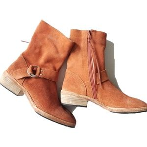 Free People Vienna Suede western boots new 37